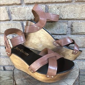 Juicy Couture Dominica Wooden Wedge Sandals